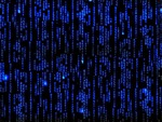 The Matrix – Blue Matrix Background