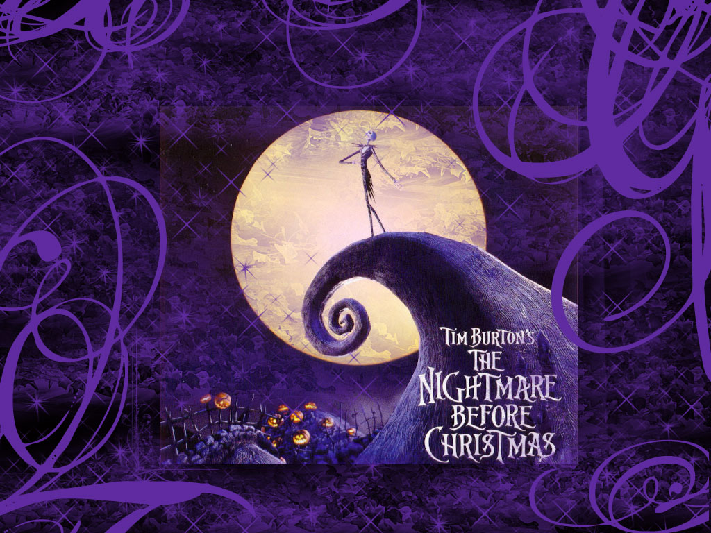 purple nightmare before christmas wallpapers are presented on the ...