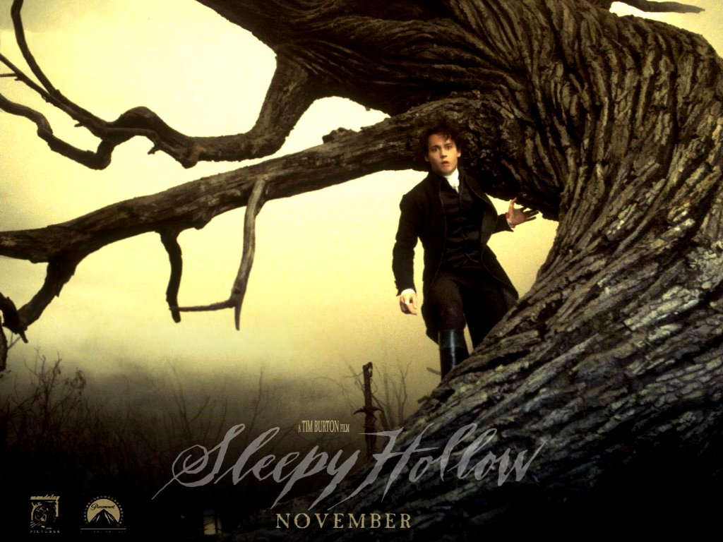 tim burton's: sleepy hollow wallpapers are presented on the website